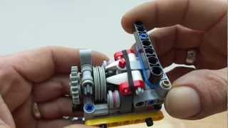 getlinkyoutube.com-Lego sequential  gearbox: module for manual gearbox 4 speed.