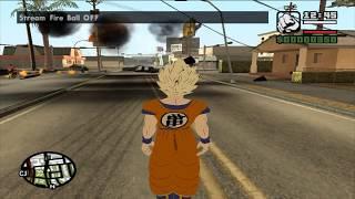 descargar mod de transformaciones y ataques de goku para gta san andreas