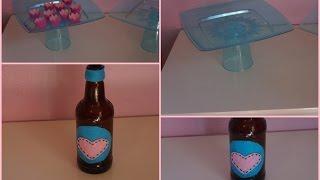 getlinkyoutube.com-DIY:Bandeja para docinhos e centro de mesa de garrafa