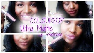 getlinkyoutube.com-COLOURPOP ULTRA MATTE LIP SWATCHES | BROWN GIRL FRIENDLY