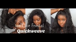 getlinkyoutube.com-♡ 360 Lace Frontal Pronto Quickweave !