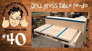 getlinkyoutube.com-SWEET Homemade drill press table with T-Style fence and dust collection- Stumpy Nubs Woodworking 40