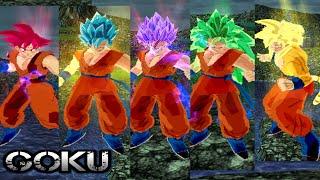 getlinkyoutube.com-Goku SSj god transformaciones  | DBZ Budokai Tenkaichi 3 (MOD)