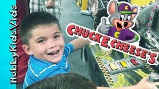 getlinkyoutube.com-Chuck E Cheeses! Fruit Ninja Skee Ball Tickets Tokens Pizza Racing by HobbyKidsVids