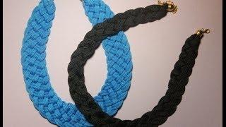getlinkyoutube.com-DIY. Collares con cordones de zapatillas.