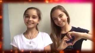 getlinkyoutube.com-Sisters Averins Dina and Arina: Happy Birthday, Dear Group!(2015)