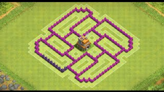 getlinkyoutube.com-Clash Of Clans - BEST TH7 TROPHY LAYOUT! + Anti Healer, Giant and Balloons! - New 2015 HD