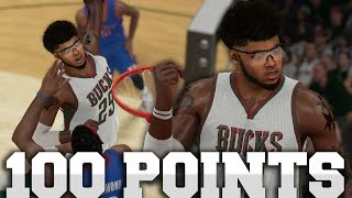 getlinkyoutube.com-NBA 2K15 MyCAREER - THE 100 POINT GAME!! Shawn MURDERS Andre Drummond In The Paint!!!