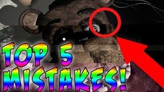 Top 10 FNAF Mistakes