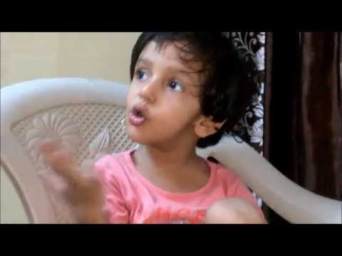Rap of Indian classical by little girl..Amazing