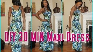 #4 DIY 30 Min Maxi Dress -Derri's Diary| Sew Derri