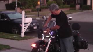 getlinkyoutube.com-How to adjust Harley-Davidson™ LED headlight. DIY, Harley-Davidson™ Heritage Softtail®