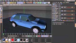 Cinema 4D | Car Rigging Tutorial + FREE 3D car