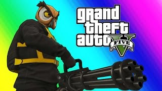 getlinkyoutube.com-GTA 5 Online Funny Moments - The Weenie Boys & Minigun Unlocked!