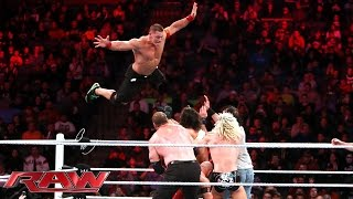 getlinkyoutube.com-John Cena, Ryback & Dolph Ziggler vs. Seth Rollins, Kane & Luke Harper: Raw, December 1, 2014