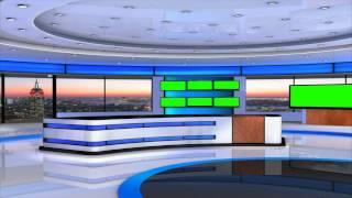 getlinkyoutube.com-news studio in green screen free best footage