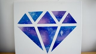 DIY Room decor: Galaxy diamond painting