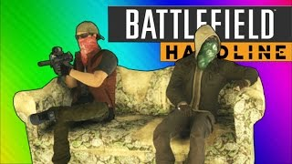 getlinkyoutube.com-Battlefield Hardline Funny Moments - Couch Easter Egg, C4 Launches, Pictionary!