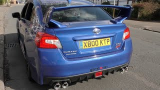 getlinkyoutube.com-2015 Subaru WRX STI Borla Exhaust Comparison With Stock Exhaust