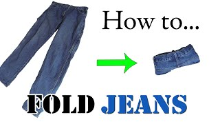 getlinkyoutube.com-Army Packing Hack: How to Ranger Roll Jeans - Efficiently Folding Clothes for Travel