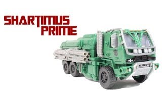 getlinkyoutube.com-Transformers 4 Age of Extinction Hound Voyager Class Toy Movie Action Figure Review