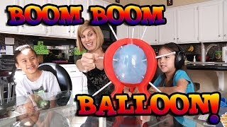 BOOM BOOM BALLOON Game Review by EvanTubeHD & Family