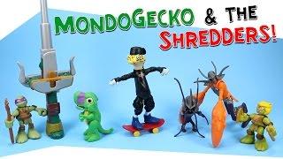 getlinkyoutube.com-Teenage Mutant Ninja Turtles Mondo Gecko Shredders & Half Shell Heroes Dinosaurs