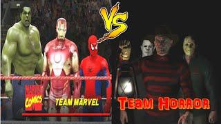 getlinkyoutube.com-Hulk, Spider-Man & Iron-Man vs Freddy Krueger, Michael Myers & Jason Voorhees (Elimination Tag)