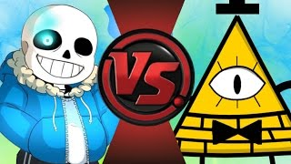 getlinkyoutube.com-SANS vs BILL CIPHER 2! REMATCH! Cartoon Fight Club Episode 99