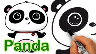 getlinkyoutube.com-How to Draw a Cute Panda Easy