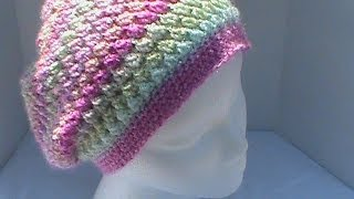 getlinkyoutube.com-Slouchy Hat Featuring Meladoras Creations Butterfly Stitch