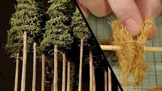 getlinkyoutube.com-Tall Forest Pine Trees – Model Railroad Scenery
