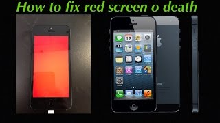 How to fix iPhone red screen or boot text issues