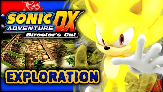 Sonic Adventure DX - Super Sonic in Adventure Fields at Night