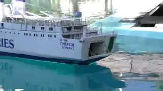 "getlinkyoutube.com-CVP - RC Tugboat ""Comandante"" towing the ""Pegasus"" Ferry boat"