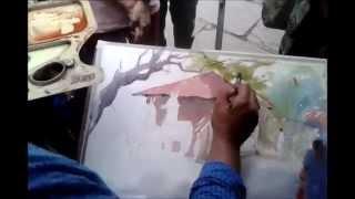 getlinkyoutube.com-Watercolor Demo By Amit Kapoor