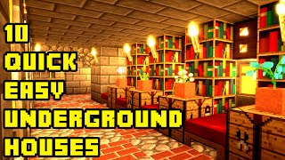 getlinkyoutube.com-Minecraft: 10 Quick and Easy Underground House Tutorials Xbox/PE/PC/PS3/PS4