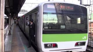getlinkyoutube.com-【山手線】内回り田町入線発車 女性車掌発車メロディ