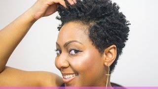 getlinkyoutube.com-How to do Finger Coils on Natural Hair and Rock a Coil out with a Tapered Cut