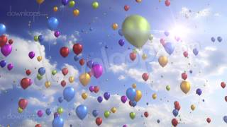 getlinkyoutube.com-Colorful Balloons - Festive / Party Video Loop / Animated Motion Background