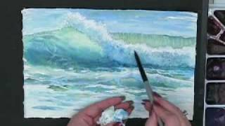 getlinkyoutube.com-Making Waves - Techniques for Painting Ocean Waves in Watercolor with Susie Short