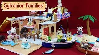 getlinkyoutube.com-Круизный корабль Sylvanian Families (Seaside Cruiser House Boat) распаковка + обзор на русском