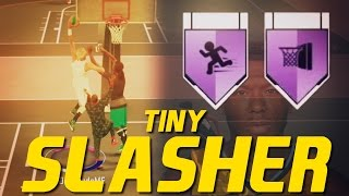 TINY SLASHER BUILD!!! CONTACT DUNKS ON TALL PLAYERS & QUICK DRIBBLES!! FLOP VS. SUCCESS