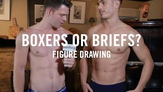Boxers or Briefs: Naked Male Models Life Drawing at Tom of Finland