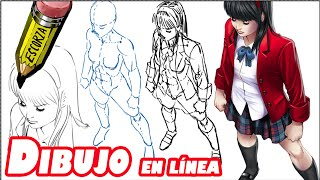 getlinkyoutube.com-Como dibujar una chica en vista elevada