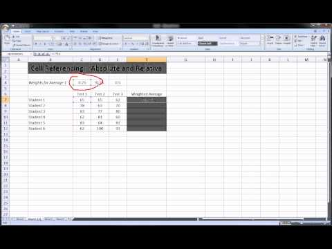 Excel - Absolute and Relative Cell References