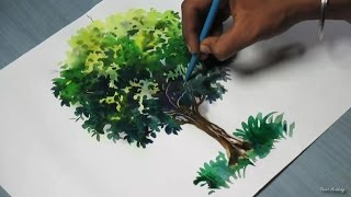 getlinkyoutube.com-How to Paint A Tree with Watercolor