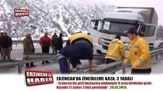 Erzincan'da Zincirleme Trafik Kazası: 3 Yaralı