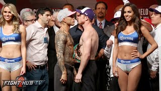 getlinkyoutube.com-Miguel Cotto vs. Canelo Alvarez COMPLETE Weigh In & Face Off video