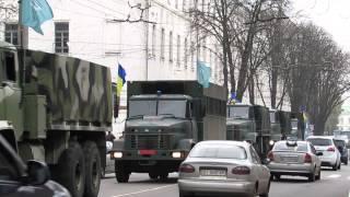 getlinkyoutube.com-Колона бренетехніки батальону «Лтава» (Полтава, 22.10.2014)
